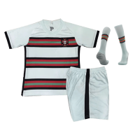Kids Portugal Away Soccer Jersey Whole Kit(Shirt+Short+Socks) 2020