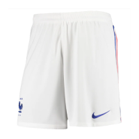 2020 France Home White Soccer Jersey Short