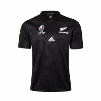 2019 World Cup New Zealand All Blacks Home Black Rugby Jersey Shirt