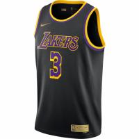 Men's Los Angeles Lakers Anthony Davis #3 Nike Black 2020/21 Swingman Player Jersey – Earned Edition