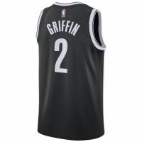 Men's Brooklyn Nets Blake Griffin #2 Nike Black 2020/21 Swingman Jersey - Icon Edition