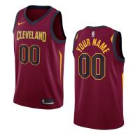 Cleveland Cavaliers Nike Wine Swingman Custom NBA Jersey - Icon Edition