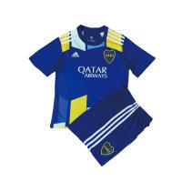 Boca Juniors Kid's Soccer Jersey Fourth Away Kit (Jersey+Shorts) 2021/22