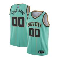 Charlotte Hornets Jordan Brand Green 2020/21 Swingman Custom NBA Jersey - Association Edition