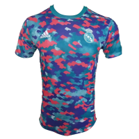Real Madrid Pre Match Soccer Jersey Red&Blue (Player Version) 2021/22