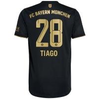 Bayern Munich Soccer Jersey TIAGO #28 Away Replica 2021/22