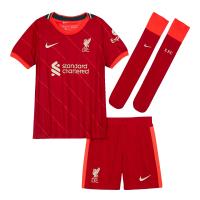 Liverpool Kid's Soccer Jersey Home Kit (Jersey+Short+Socks) 2021/22