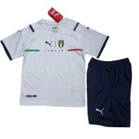 Italy Kid's Soccer Jersey Away Kit (Jersey+Short) 2021