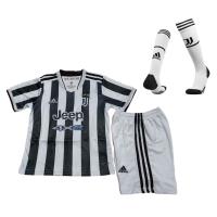 Juventus Kids Soccer Jersey Home Kit (Jersey+Short+Socks) 2021/22