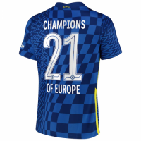 Chelsea Soccer Jersey CHAMPIONS OF EUROPE Home Replica 2021/22