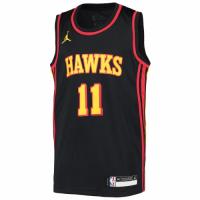 Men's Atlanta Hawks Trae Young #11 Jordan Brand Black 2020/21 Swingman Jersey - Statement Edition