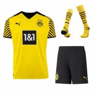 Borussia Dortmund Soccer Jersey Home Whole Kit (Jersey+Short+Socks) Replica 2021/22