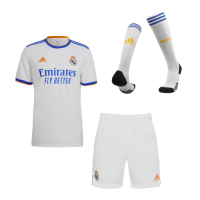 Real Madrid Soccer Jersey Home Whole Kit (Jersey+Short+Socks) Replica 2021/22