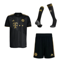 Bayern Munich Soccer Jersey Away Whole Kit (Jersey+Short+Socks) Replica 2021/22