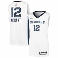 Men's Memphis Grizzlies Ja Morant Nike White 2020/21 Swingman Jersey – Association Edition