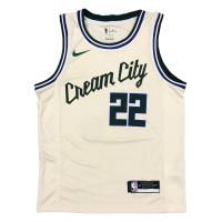 Men's Milwaukee Bucks Khris Middleton #22 Nike White Cream Swingman Jersey - City Edition