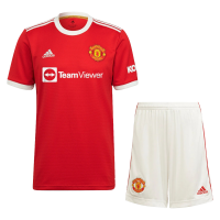 Manchester United Soccer Jersey Home Kit(Jersey+Short) Replica 2021/22
