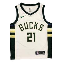 Men's Milwaukee Bucks Jrue Holiday #21 Nike White 2020/21 Swingman Jersey - Association Edition
