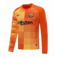Barcelona Soccer Jersey Goalkeeper Long Sleeve Orange Replica 2021/22