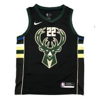 Men's Milwaukee Bucks Khris Middleton #22 Nike Black Swingman Jersey - Statement Edition
