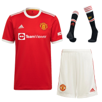 Manchester United Soccer Jersey Home Whole Kit(Jersey+Short+Socks) Replica 2021/22