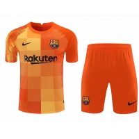 Barcelona Soccer Jersey Goalkeeper Kit(Jersey+Short) Orange Replica 2021/22