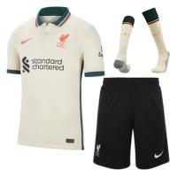 Liverpool Soccer Jersey Away Whole Kit(Jersey+Short+Socks) Replica 2021/22