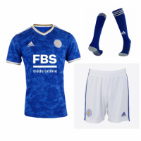 Leicester City Soccer Jersey Home Whole Kit (Jersey+Short+Socks) Replica 2021/22