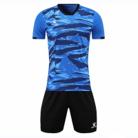 Kelme Customize Team Soccer Jersey Kit (Shirt+Short) Blue - 1003