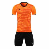 Kelme Customize Team Soccer Jersey Kit (Shirt+Short) Orange - 1003