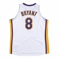 Men's Los Angeles Lakers Kobe Bryant #8 Mitchell & Ness White 2003-04 Hardwood Classics Jersey