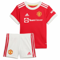Manchester United Kid's Soccer Jersey Home Kit (Jersey+Short) 2021/22