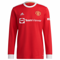 Manchester United Soccer Jersey Long Sleeve Home Replica 2021/22