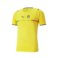 Italy Soccer Jersey Goalkeeper Yellow (Player Version) 2021