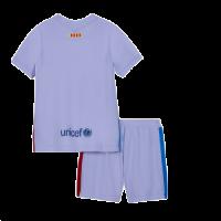 Barcelona Kid's Soccer Jersey Away Kit (Jersey+Short) Replica 2021/22