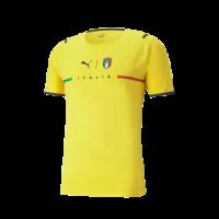 Italy Soccer Jersey Goalkeeper Yellow Replica 2021