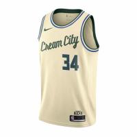 Men's Milwaukee Bucks Giannis Antetokounmpo #34 Nike Cream City  Swingman Jersey - City Edition