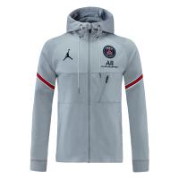 PSG Hoodie Jacket Gray 2021/22