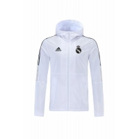 Real Madrid Windbreaker Hoodie Jacket White 2021/22
