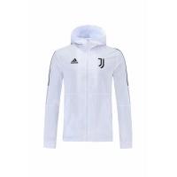Juventus Windbreaker Hoodie Jacket White 2021/22