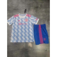Manchester United Kid's Soccer Jersey Away Kit(Jersey+Short) Replica 2021/22