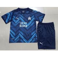 Marseilles Kid's Soccer Jersey Away Kit(Jersey+Short) Replica 2021/22