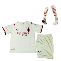 AC Milan Kid's Soccer Jersey Away Whole Kit(Jersey+Short+Socks) Replica 2021/22
