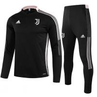 Juventus Zipper Sweat Kit (Top+Pants) Black 2021/22