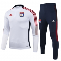 Olympique Lyonnais Zipper Sweat Kit(Top+Pants) White 2021/22