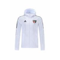 Sao Paulo Windbreaker Hoodie Jacket White 2021/22
