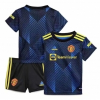 Manchester United Kid's Soccer Jersey Third Away Kit(Jersey+Short) 2021/22