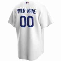 Men's Los Angeles Dodgers Nike White 2020 Home Custom Replica Jersey