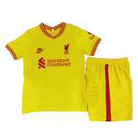 Liverpool Kid's Soccer Jersey Third Away Kit(Jersey+Short) Replica 2021/22