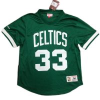 Men's Boston Celtics Larry Bird #33 Mitchell&Ness Green 1986-87Name And Number Mesh Top